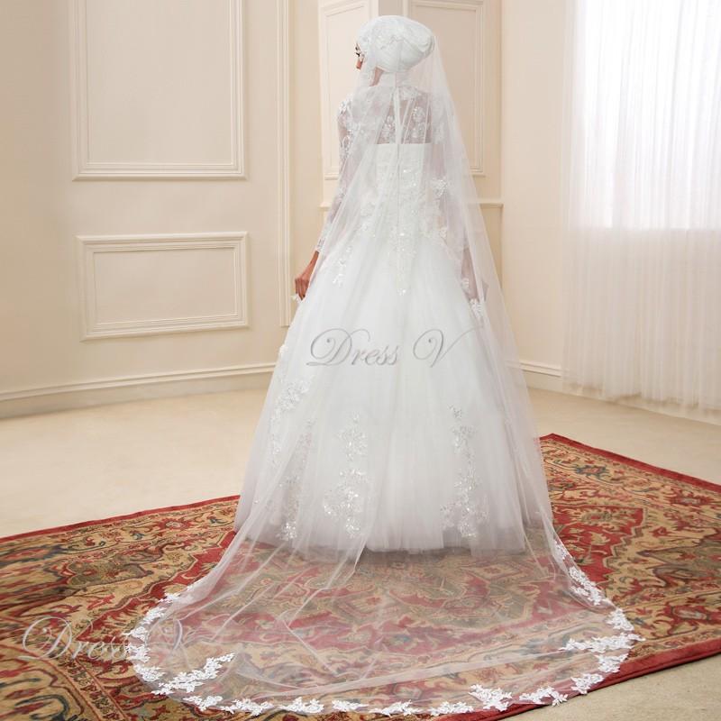 Turtleneck Wedding Dress: Long Sleeve Muslim Turtleneck Wedding Dresses Ball Gown